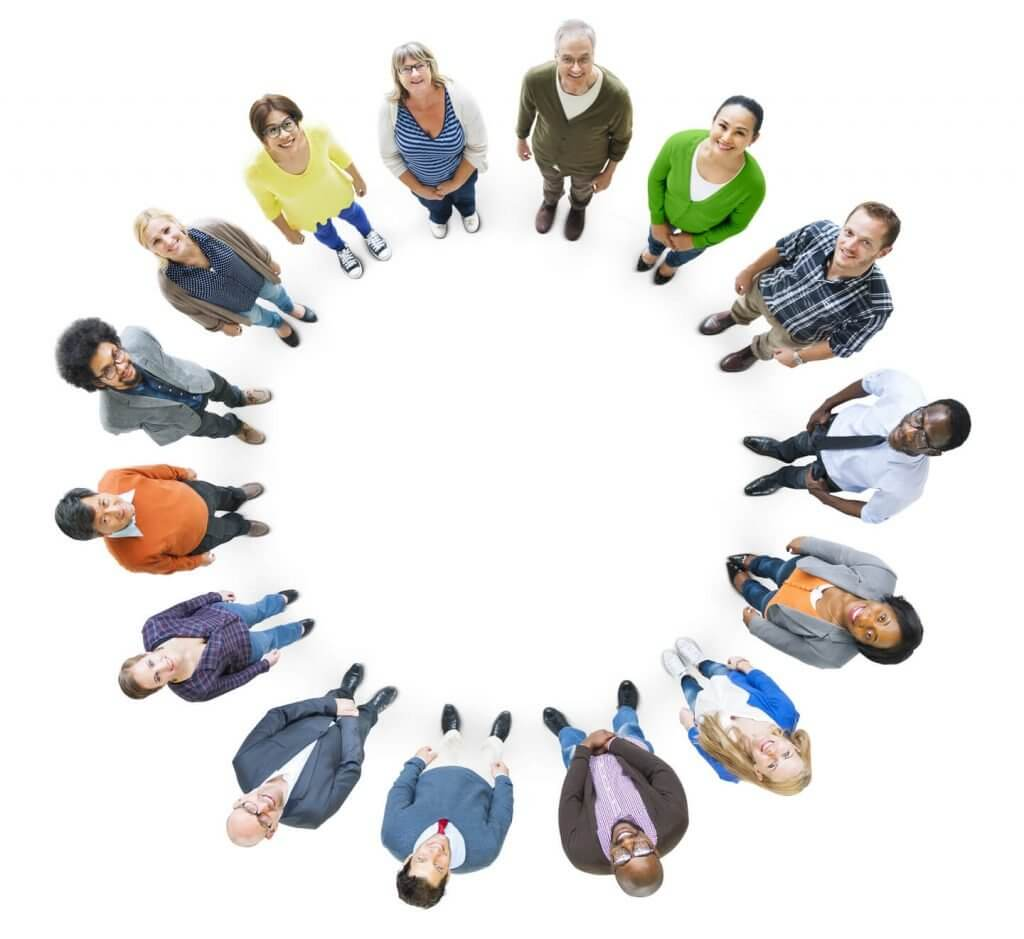 group of people as a targeted market for business